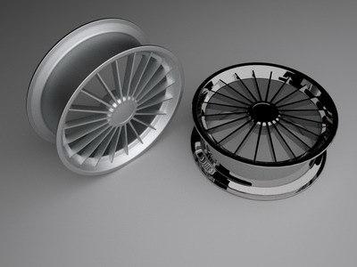 rim set 3d model
