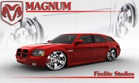 dodge magnum 3d model