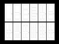 maya panel rail stile doors