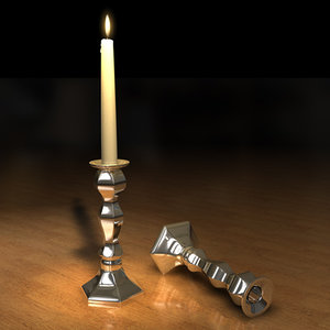candleholder candle flame 3d model