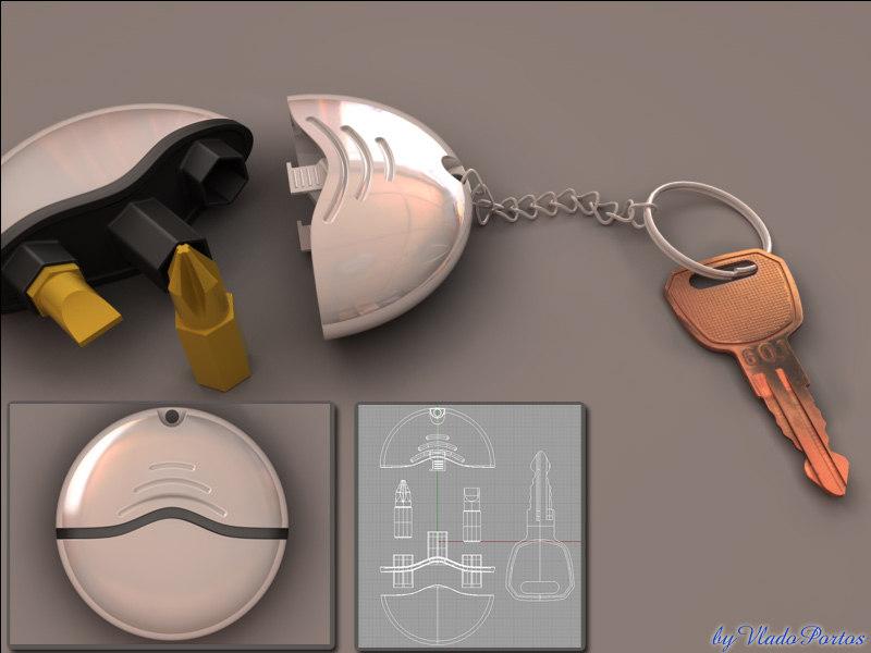 3dm key ring