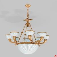 3d max chandelier lamp