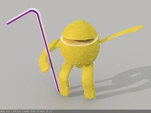 lemon character pepsi 3d max