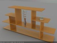 wood furniture 3d max