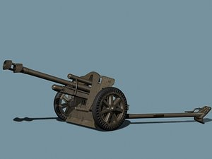 german howitzer wwii 3d model