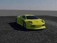 lamborgini car lambo 3d model