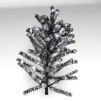 realistic tree snow 3d obj
