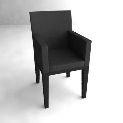 3d chair armchair arm