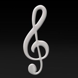 clef music 3d model