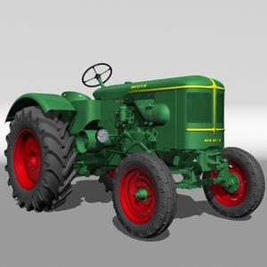 3d deutz fl3 tractor model