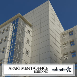 modern apartment office building 3ds