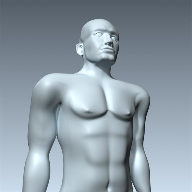 man anatomically 3d c4d