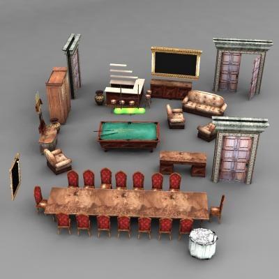 fancy furniture 3d model