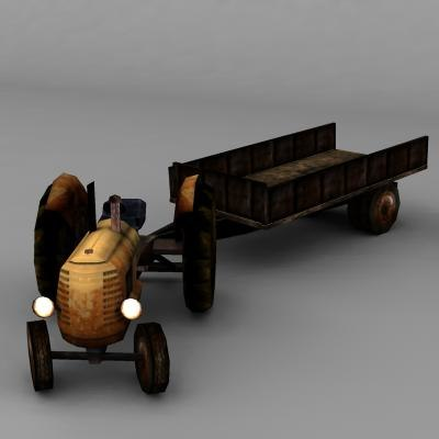 tractor trailers 3d model