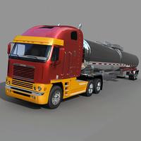 Freightliner Argosy  with  tank trailer
