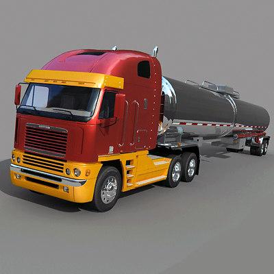 3d model truck tank trailer
