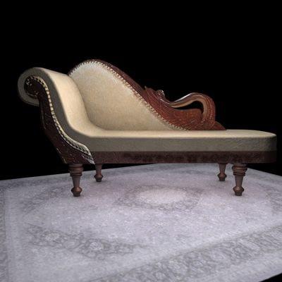 antic sofa obj