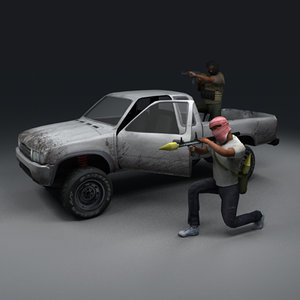 3d model insurgent terrorist hilux