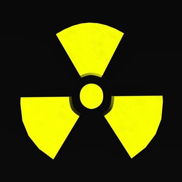 radiation symbol 3d model
