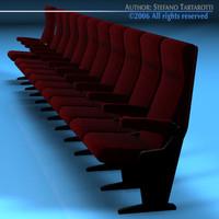 c4d row theatre seat