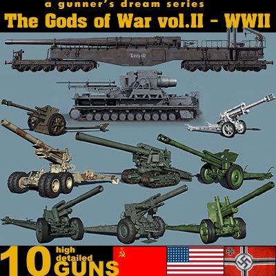 artillery cannon 3d 3ds