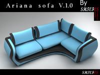ariana sofa 3d 3ds