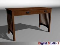 3d mission desk model