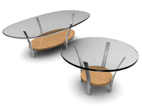 3ds modern glass table