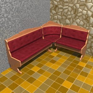 3d model angular sofa