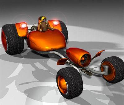 boogie vehicle 3d model