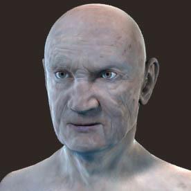 3d normal mapped old man model