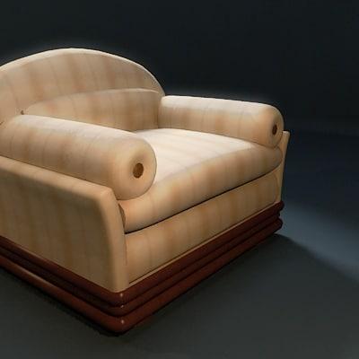 3d classic chair clein