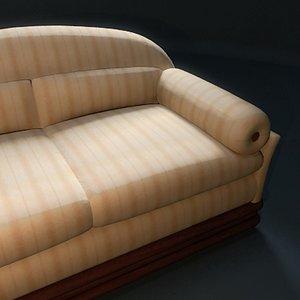 3d model classic sofa clein
