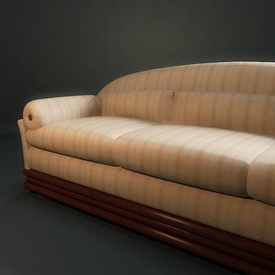 classic sofa clein 3d model