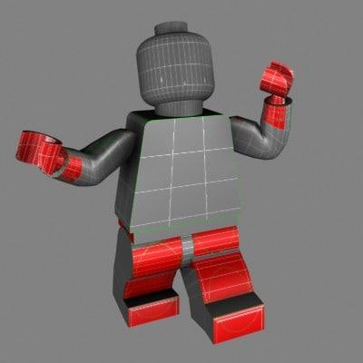 3d model lego man toy