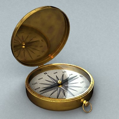 free compass 3d model