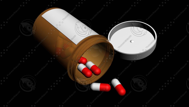 bottle pills 3d max