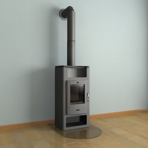 3ds max fire-place stoves