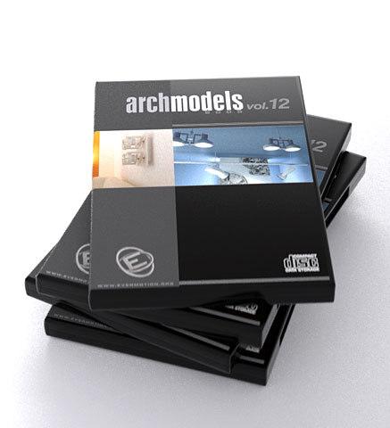 3d archmodels 12 lamps model