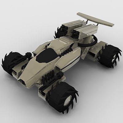 3d battle buggy sci-fi model