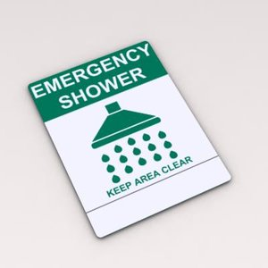 max emergency shower sign