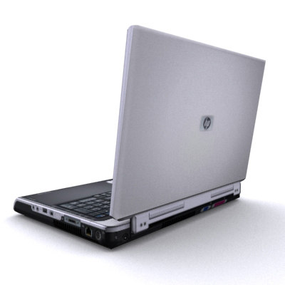 3d model laptop real-time