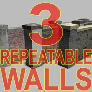 repeatable walls 3d max