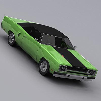plymouth roadrunner 1970 3d model