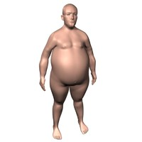 3ds max man overweight