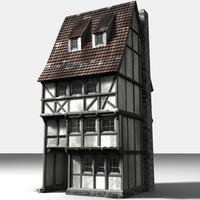 medieval townbuilding 3d lwo