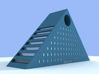 3d 3ds unique building 1