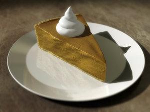 photoreal pie slice 3d max