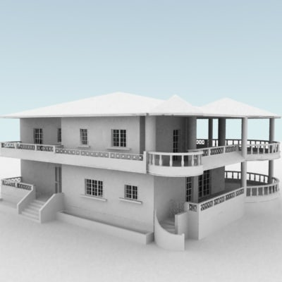 free house building 3d model