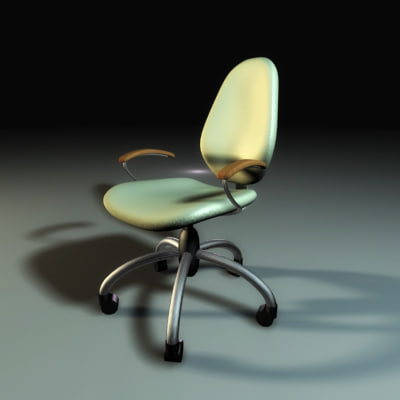 3ds max office armchair